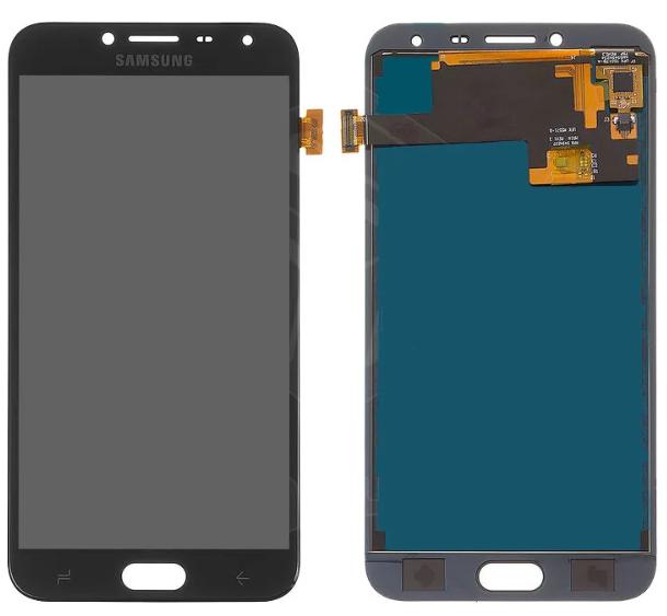 Дисплей (экран) для Samsung J400 Galaxy J4 (2018) с сенсором (тачскрином) черный с регулировкой (TFT)