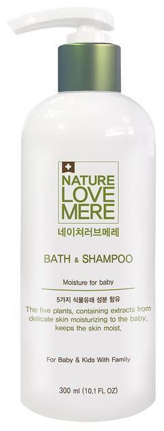 NATURE LOVE MERE - Детское средство для купания и шампунь 2в1, 300 мл, NLM