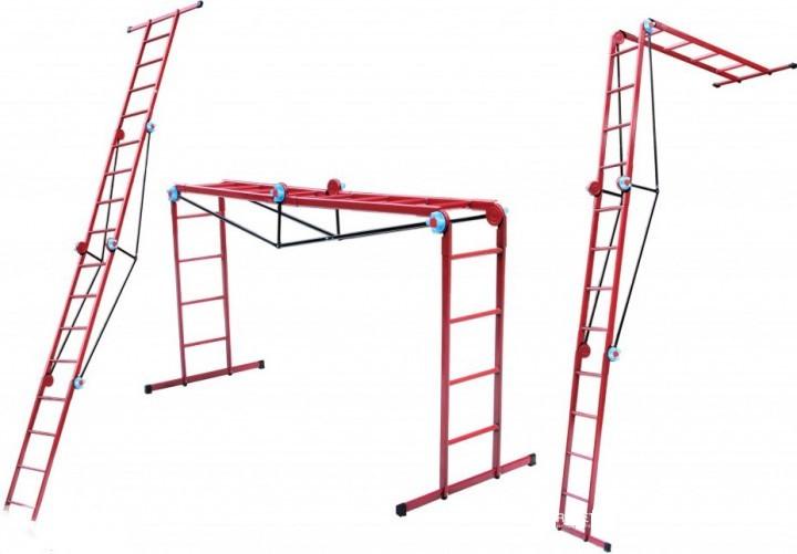 Лестницаметаллическая трансформер, 3 ступених 4 секции Украина