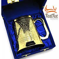 Пивной бокал подарочный бронзовый 500 мл