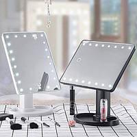 Косметическое зеркало с подсветкой для макияжа, Сенсорное зеркало с светодиодами, Настольное зеркало