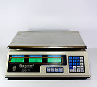 Весы 50kg/5g 218 Domotec 6V flat-pan, Электронные торговые весы, Весы аккумуляторные, Весы с таблом