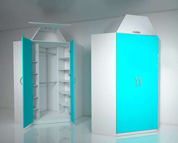 Угловой шкаф Design Service  Артем-ка, угол 900*900 мм., высота 2500 мм, стенки по 400 мм