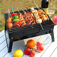 Складной барбекю гриль портативный мангал BBQ Grill Portable – жаропрочный