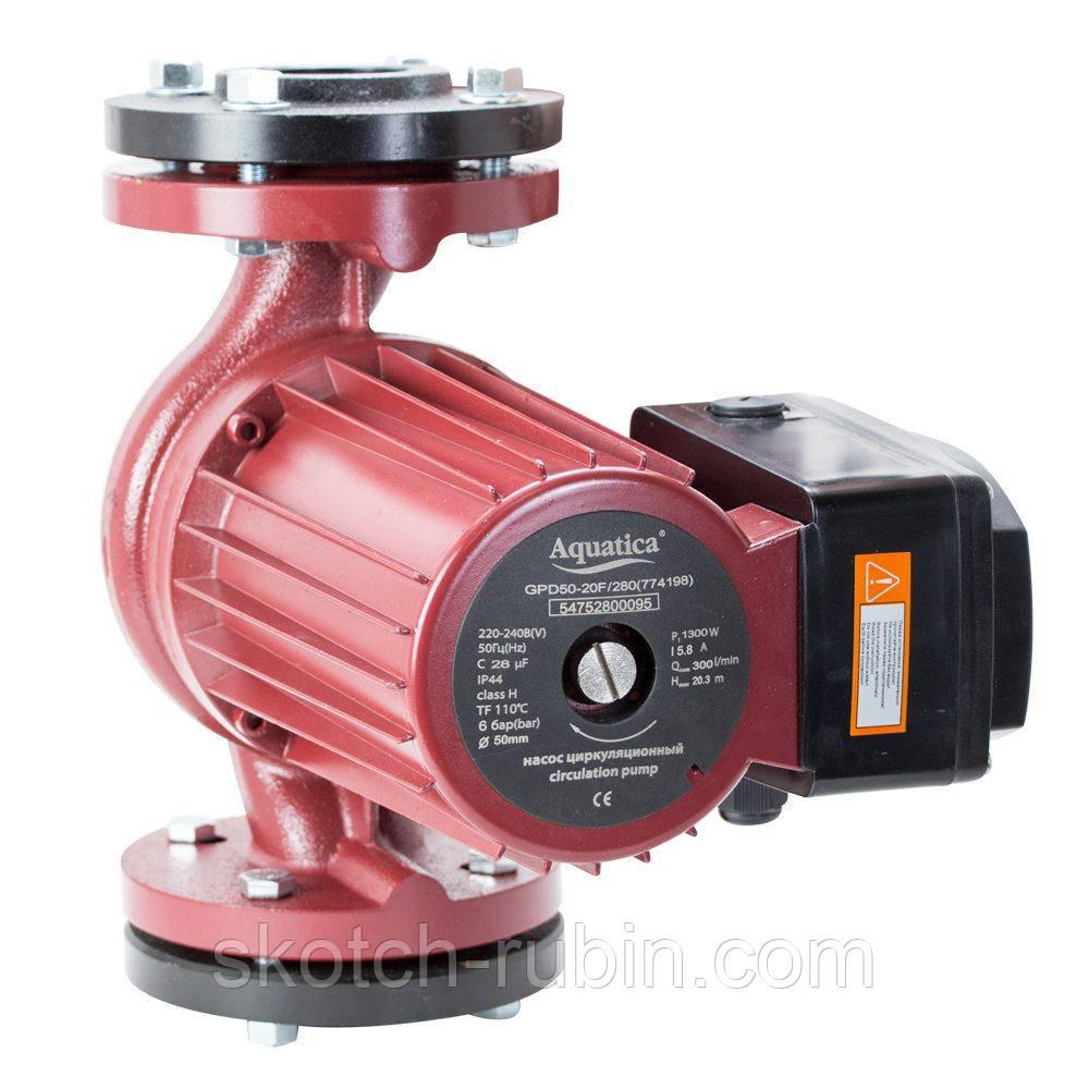 Насос циркуляційний фланцевий 1.0 кВт Hmax 10.3 м Qmax 500л/хв DN65 300мм + відповідь фланець AQUATICA (774159)