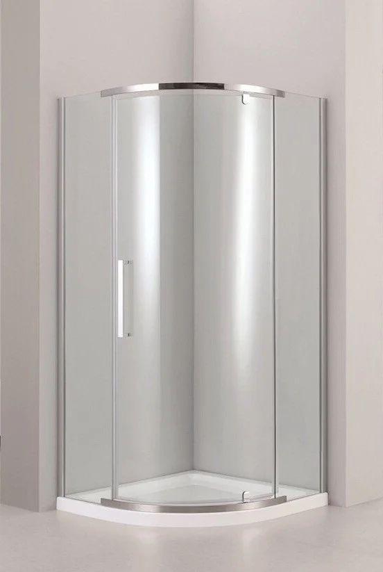 Душевая полукруглая кабина Dusel™ A-1105 90х90х190, прозрачная