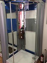 Душевая полукруглая кабина Dusel™ A-1105 90х90х190, прозрачная, фото 2