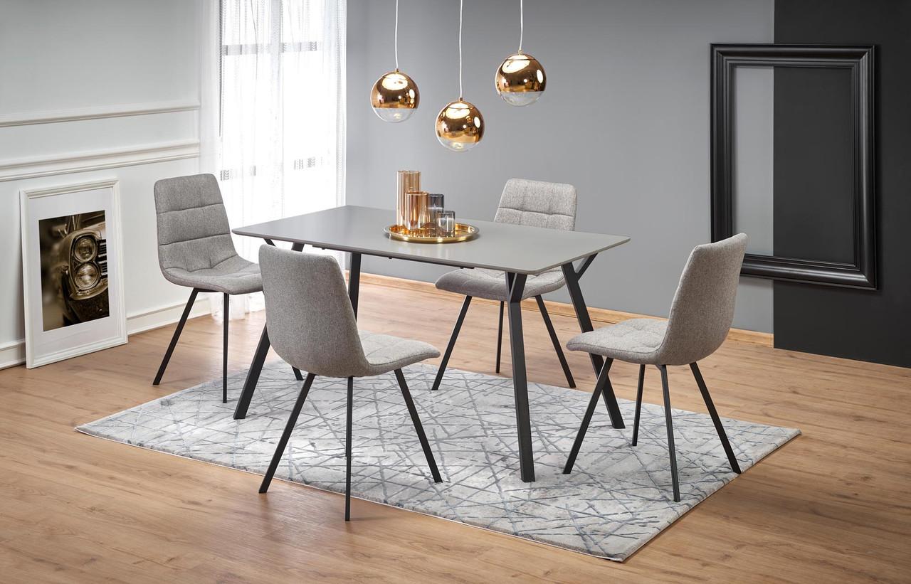 Стол обеденный деревянный BALROG Halmar серый/черный