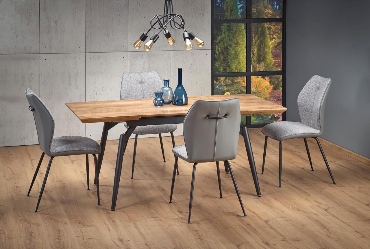 Стол обеденный деревянный CAMBELL Halmar дуб/черный