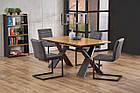Стол обеденный деревянный CHANDLER Halmar дуб/черный, фото 2