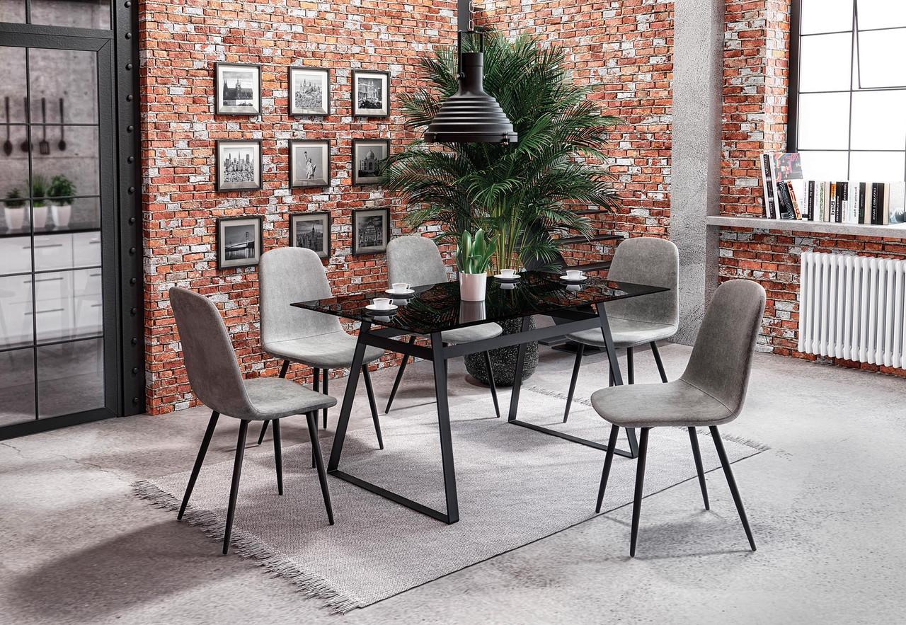 Стол обеденный стеклянный HERALD Halmar черный