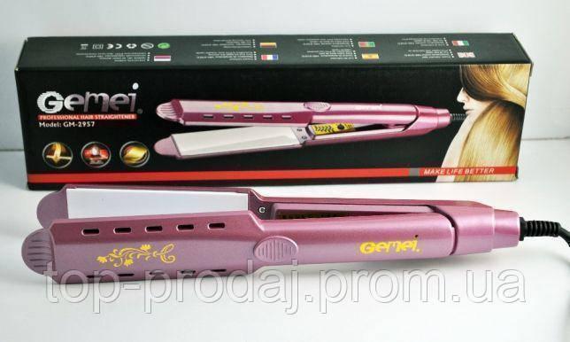 Утюжок GM 2957, Утюжок для выравнивания волос, Стайлер для укладки волос, Выпрямитель, Утюжок щипцы