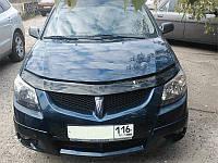 Дефлектор капота (мухобойка) Pontiac Vibe 2002-2007