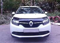 Дефлектор капота (мухобойка) Renault Logan 2012-, фото 1