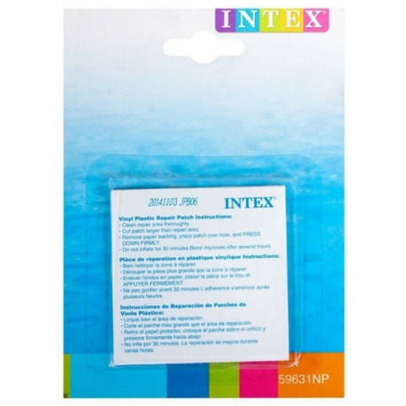Ремкомплект Intex 59631 для надувных изделий самоклейки 7х7 см, 6 шт, фото 2