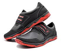 Кросівки чоловічі на липучку червоні 43 розмір, фото 2