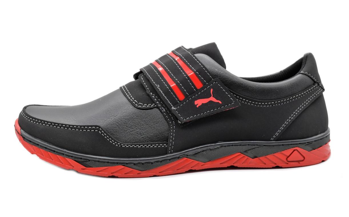Кросівки чоловічі на липучку червоні 43 розмір