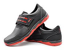 Кросівки чоловічі на липучку червоні 43 розмір, фото 3