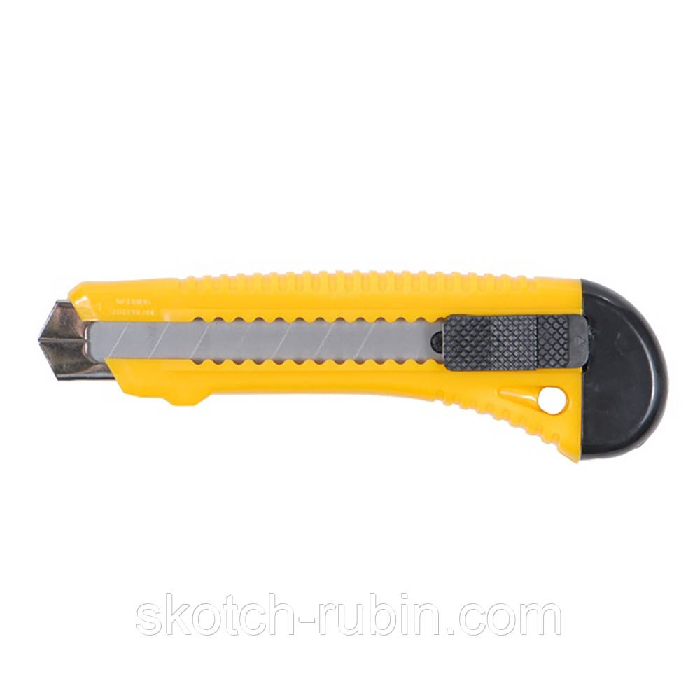 Нож строительный (пластиковый корпус) лезвие 18мм автоматический замок Sigma (8213021)