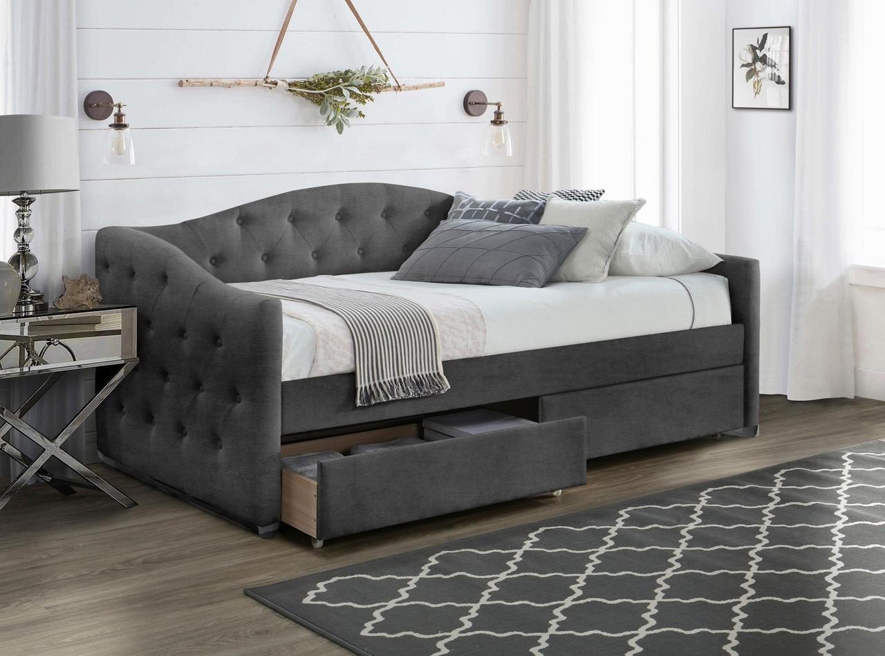 Кровать ALOHA 90 Halmar пепельный