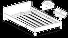 Кровать ALOHA 90 Halmar пепельный, фото 2