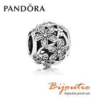 Pandora Шарм ОСЛЕПИТЕЛЬНЫЕ РОМАШКИ 791492CZ серебро 925 Пандора оригинал