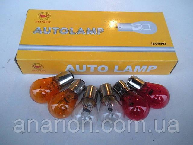 Лампы P21W 12V одно-контактные для габаритов 10 штук (микс).