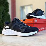 Чоловічі шкіряні кросівки Puma Hybrid Pacer чорні на білому, фото 3