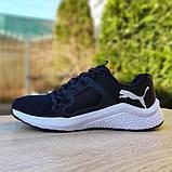 Чоловічі шкіряні кросівки Puma Hybrid Pacer чорні на білому, фото 5