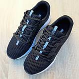 Чоловічі шкіряні кросівки Puma Hybrid Pacer чорні на білому, фото 6