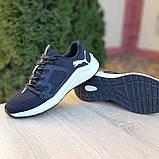 Чоловічі шкіряні кросівки Puma Hybrid Pacer чорні на білому, фото 7