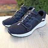 Чоловічі шкіряні кросівки Puma Hybrid Pacer чорні на білому, фото 9