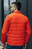 Чоловіча Стильна демісезонна куртка оранж, фото 2