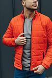 Чоловіча Стильна демісезонна куртка оранж, фото 6