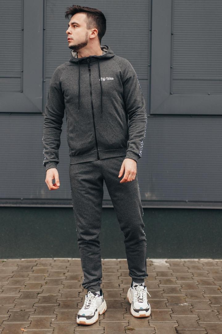 Мужской спортивный костюм  ОВ классик серый
