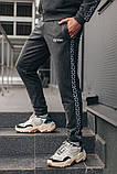 Мужской спортивный костюм  ОВ классик серый, фото 5