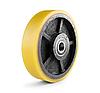 Колесо чугун с полиуретановым контактным слоем, диаметр 150 мм, с подшипниками, без кронштейна
