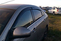 "Дефлекторы окон (ветровики) Nissan Almera (G11) Sd 2012 ""EuroStandart"" деф.дв.накл."