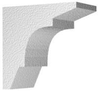 Архитектурный фасадный декор из пенопласта. Карниз К-2