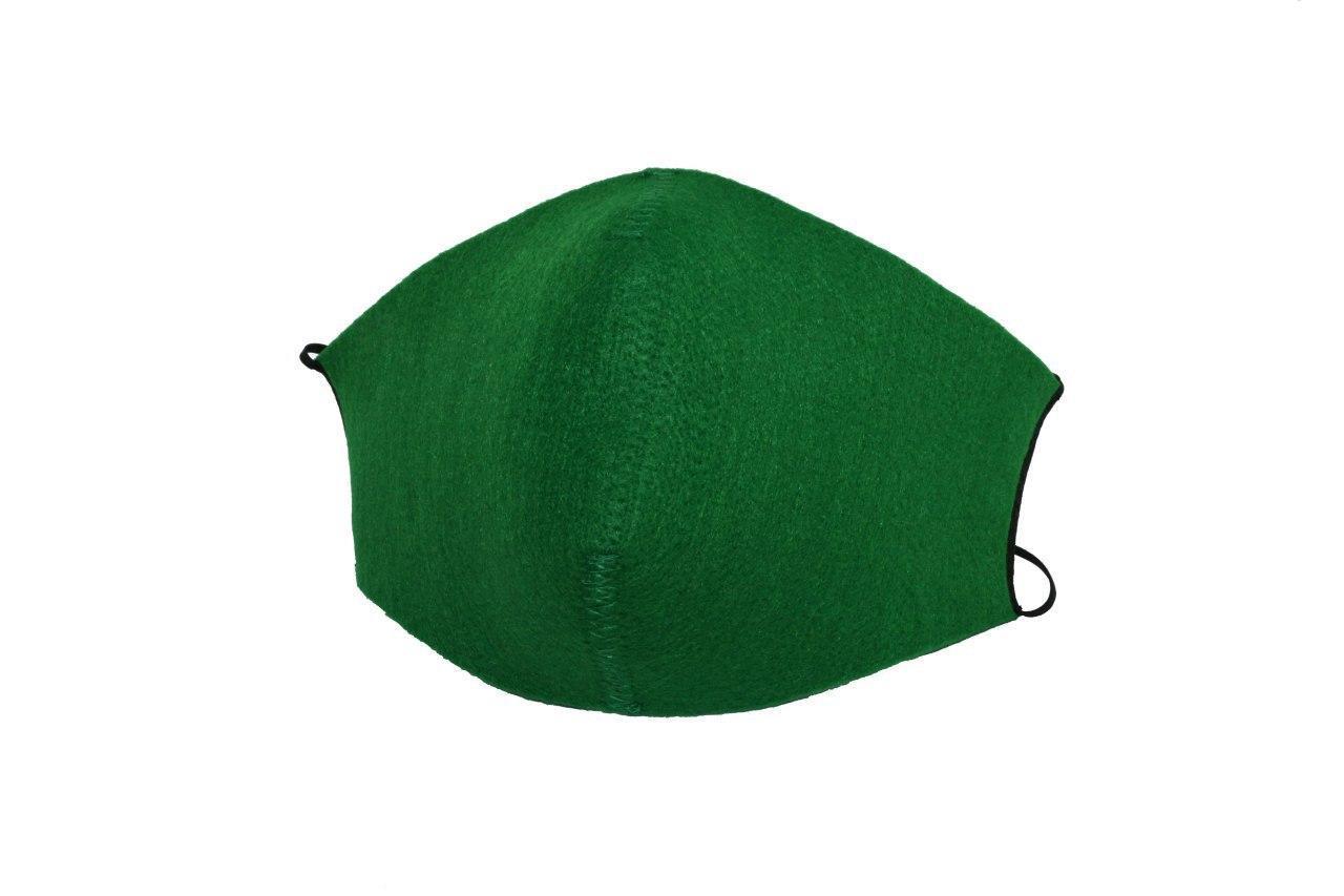 Маска защитная из фильтрующего материала, зеленая.