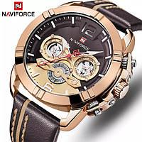 Часы NAVIFORCE NF9168 Cuprum Brown 45mm Quartz., фото 1