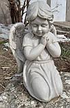 Ангелы из мрамора. Скульптура Ангела девочки № 88 из литьевого мрамора 50 см, фото 3