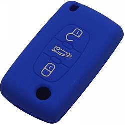 Чехол для автомобильного ключа Peugeot Blue
