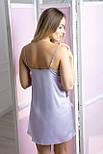 Шелковая ночная рубашка Н1005 Лаванда, фото 3