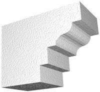Архитектурный фасадный декор из пенопласта. Карниз К-8