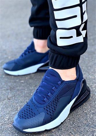 Кросівки чоловічі комфорт синього кольору, фото 2