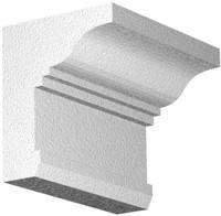 Архитектурный фасадный декор из пенопласта. Карниз К-16