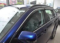 Дефлекторы окон (ветровики) Peugeot 508 2011- Combi С Хром Молдингом
