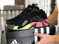 Кроссовки Мужские Хит Весна Черные с Оранжевым в стиле Adidas Streetball