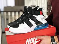 Кроссовки Мужские Хит Весна Белые с Черные  Nike Air Force